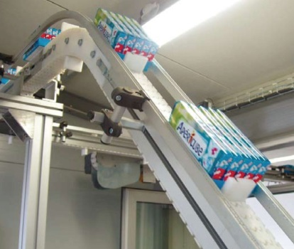 flighted slat conveyor belt