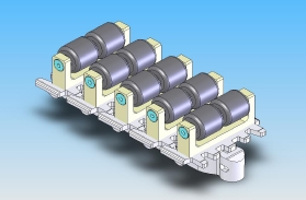 Conveyor chain with rollers