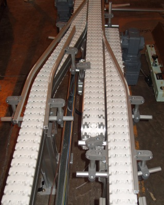 conveyor with lane change